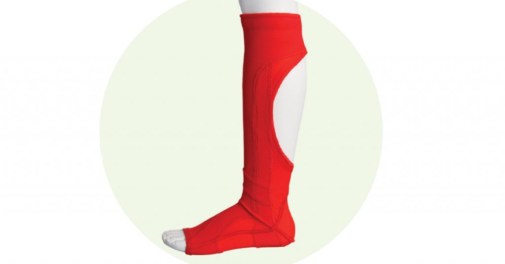 Lykrová ortéza nohy a členku - ponožka